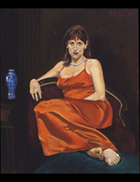 Dr. Sarah Relyea 2003 oil on canvas